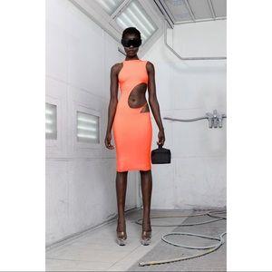 Prix Sora Midi Dress CutOut Orange